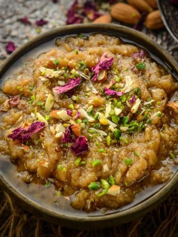 Rajgira Halwa or Rajgira Sheera is an Indian gluten-free dessert made using Rajgira (Amaranth flour). It is perfect to make for vrat (Hindu fasting) days. Here is how to make it.