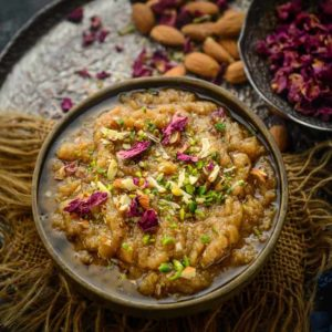 Rajgira Halwa or Rajgira Sheera is a gluten free dessert made using Rajgira or Amaranth flour. It is perfect to make for vrat days. Here is how to make Rajgira Halwa Recipe.