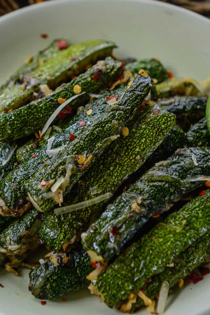 Easy roasted zucchini recipe.
