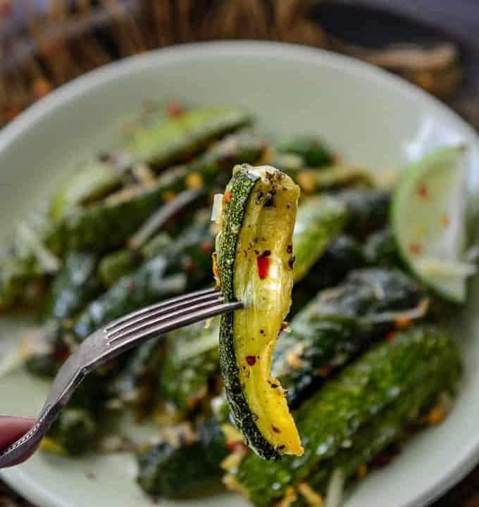 Oven Roasted Zucchini Wedge.