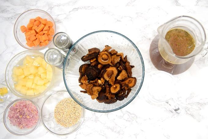 Russian Dry Mushroom Soup Ingredients