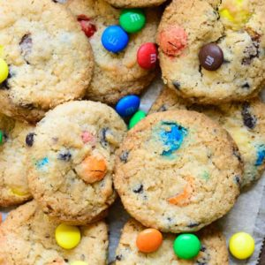 Loaded with chocolate chips and M&M, these crispy M&M Cookies are a breeze to make at home. Make these this Christmas for a festive treat. Here is how to make M&M Cookies Recipe.