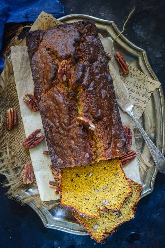 Moist Pumpkin Banana Bread