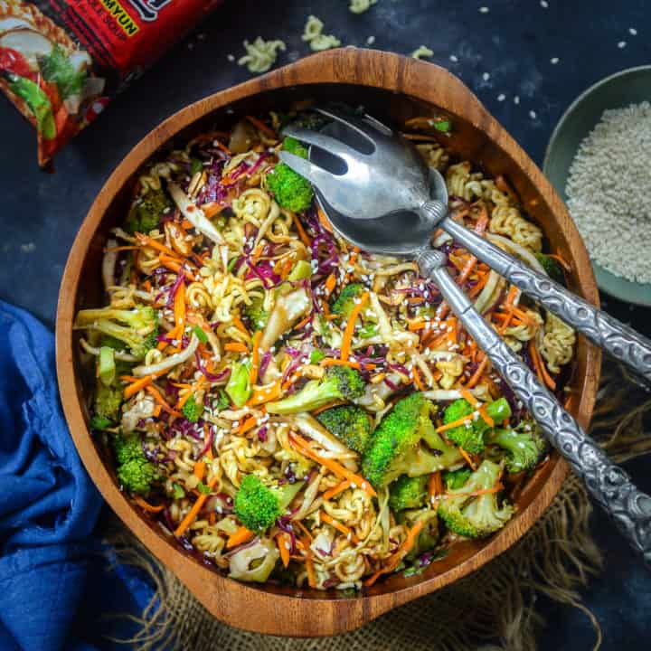 Crunchy, flavorful and healthy, all at the same time, this Oriental Ramen Noodle Salad is a breeze to make as well.