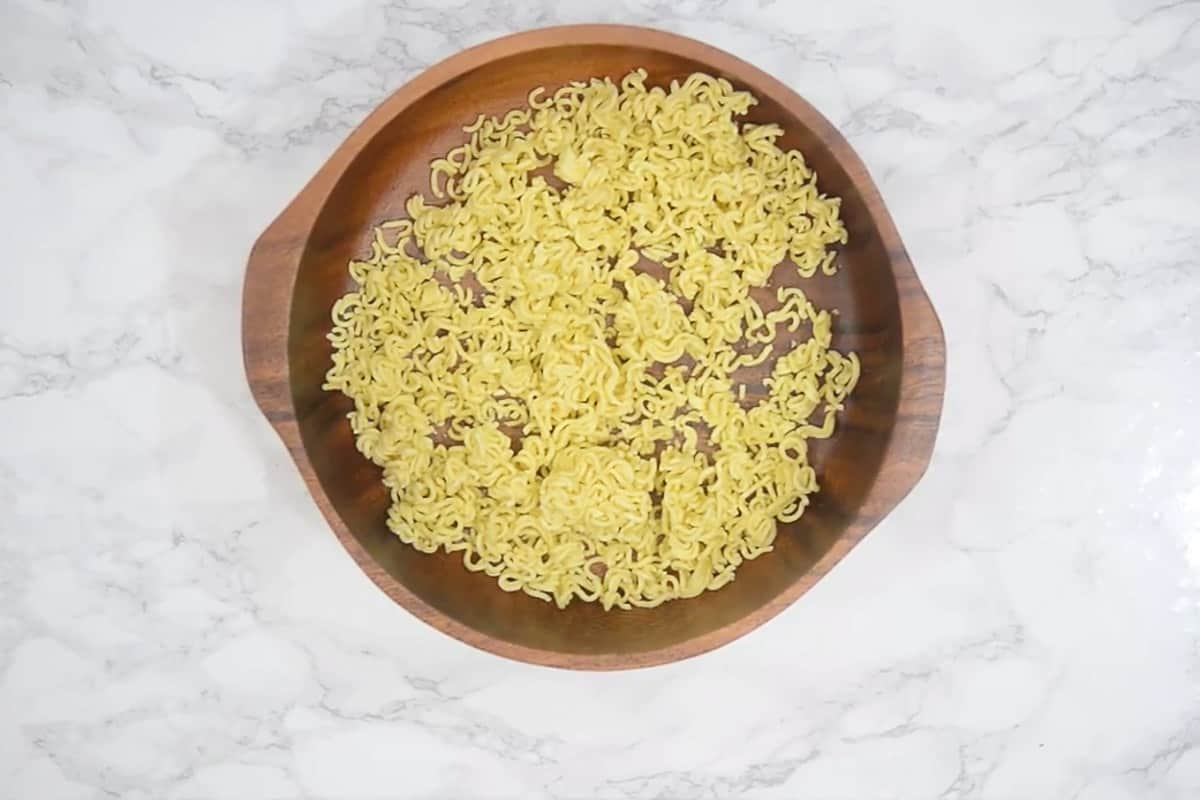 Crushed Ramen noodles.