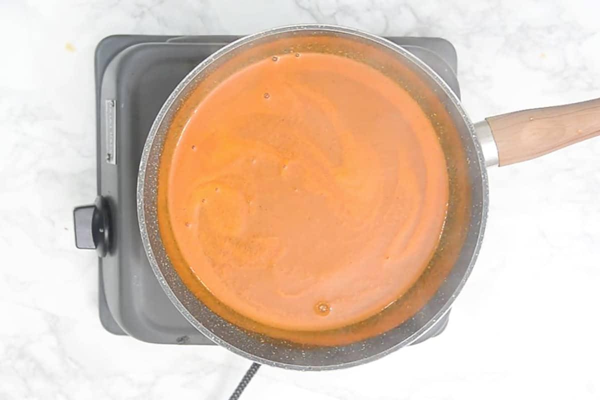 Ready tomato sorba.