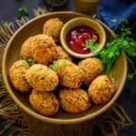 Veg Cutlets are Indian tea time snack made using a variety of vegetables. These are mostly fried until crisp and browned but you can definitely bake or air fry them for a healthier version. Here is how to make Veg Cutlet Recipe.