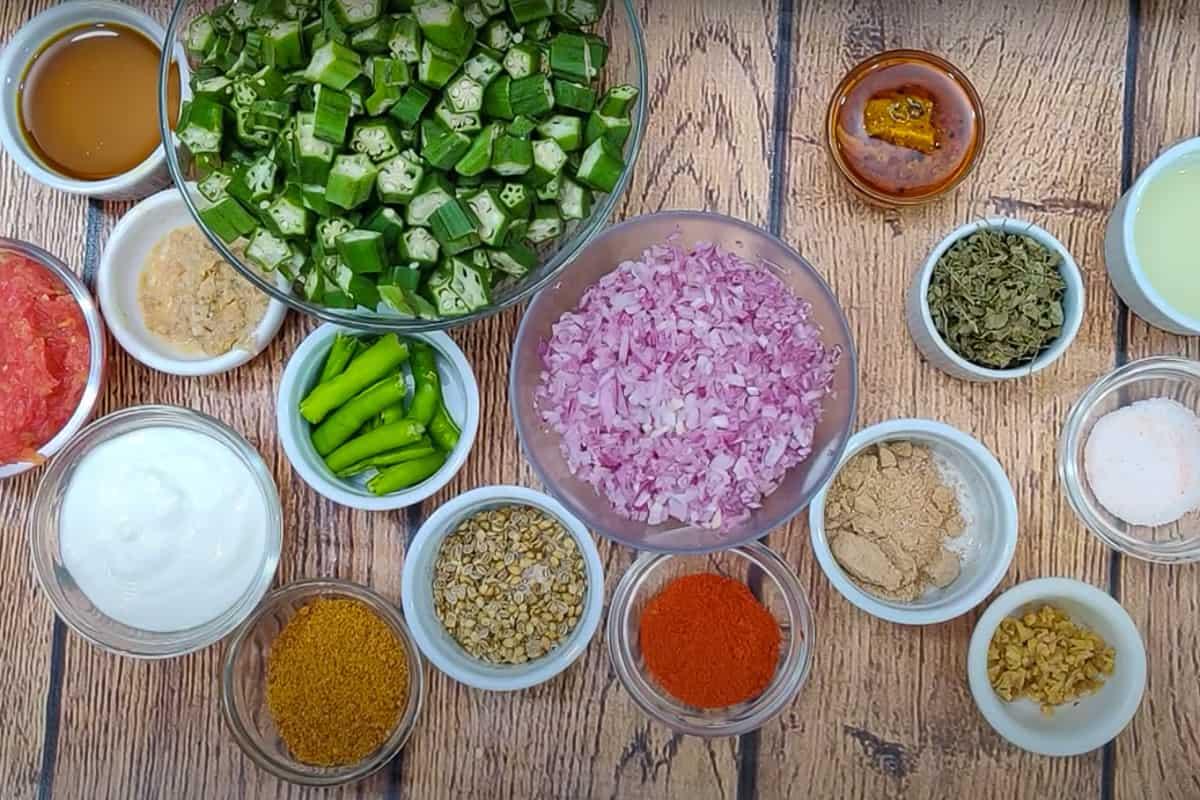 Achari Bhindi Ingredients