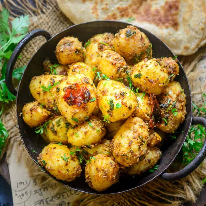Masala Baby Potato Roast is a simple and quick to make recipe using baby potatoes and freshly ground masala that can perk up any meal. Here is how to make it.