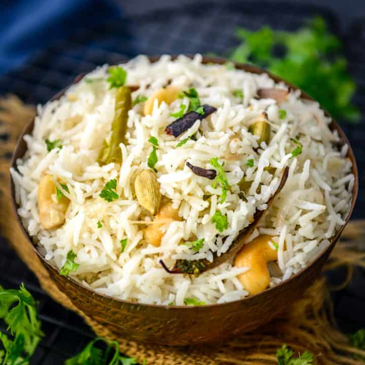 Bagara Rice also called as Bagara Chawal, Bagara Annam or Bagara Khana is a traditional Hyderabadi style rice dish which is a great replacement for biryani or pulao. Here is how to make it.