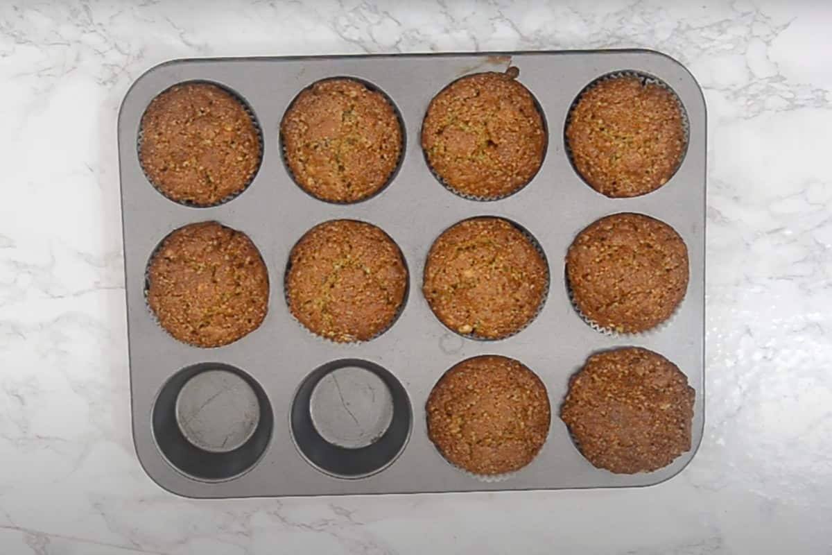 Ready banana bread muffins.