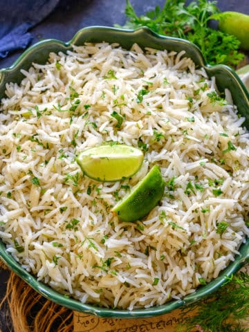 Cilantro Lime Rice is a Mexican Style Rice which is easy to make and tastes delicious. It can be made using long grain basmati rice, jasmine rice, or any other rice that you like. Here is how to make it.