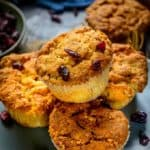 Cranberry Muffins are bakery style fluffy and moist muffins and are very easy to make at home. With refreshing flavour from orange zest & juice, cranberry orange muffins are a great for brekkie.