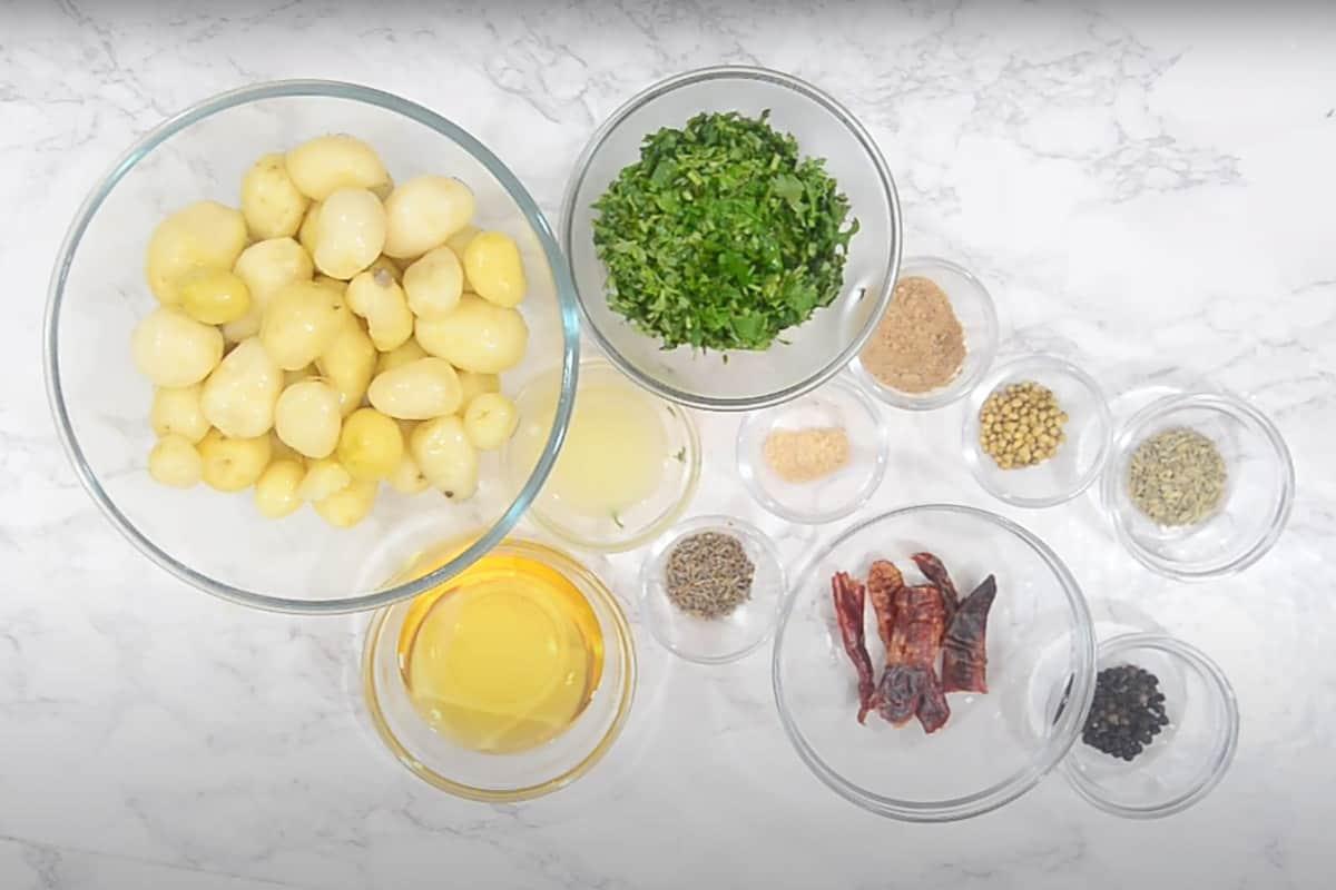 Baby Potato Roast Ingredients