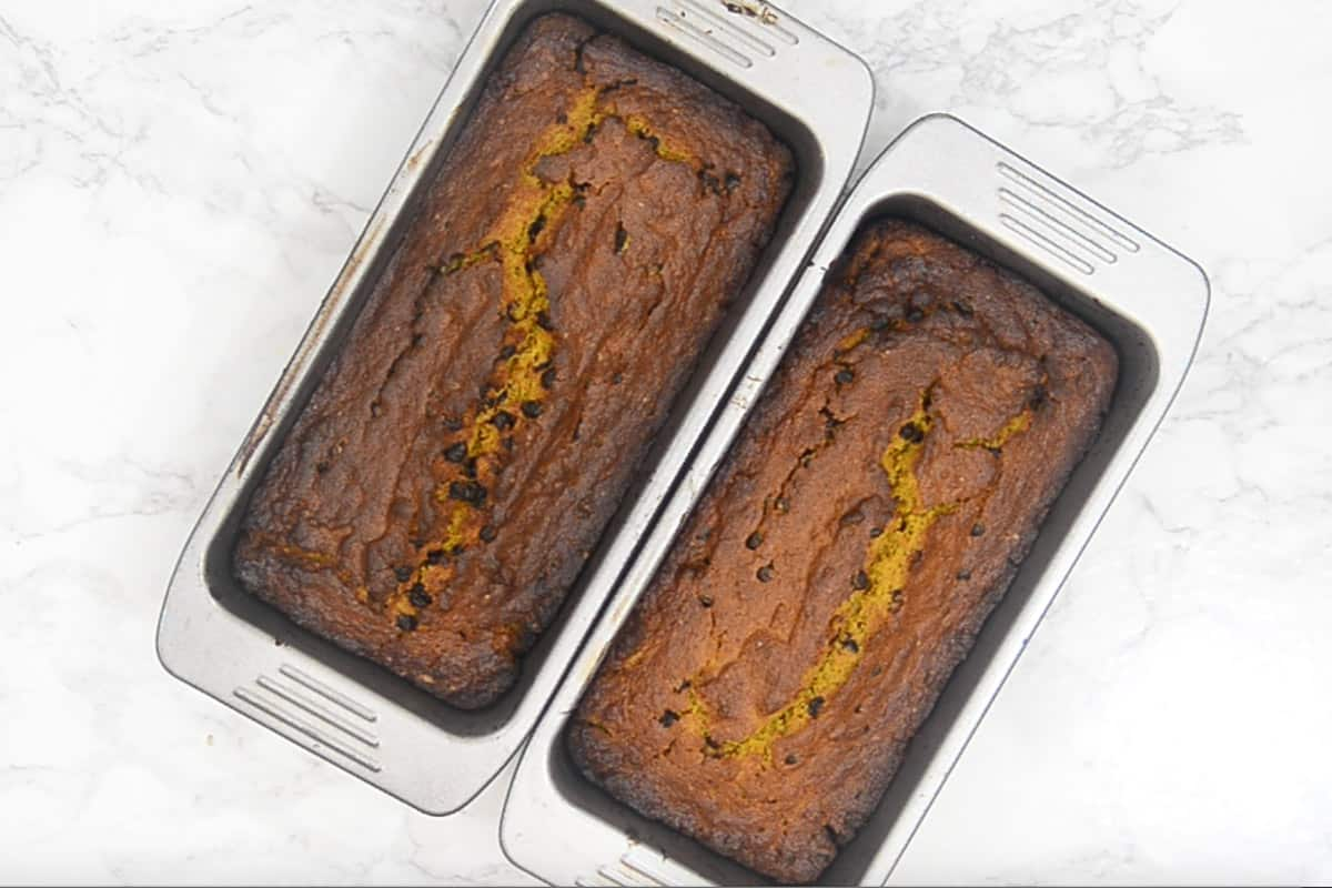 Ready Pumpkin Chocolate Chip Bread.