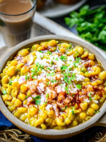 Ragda is a preparation of white peas which is an important component in most Chaat Recipes. You can make a delicious one at home using very few ingredients. Here is how to make it.