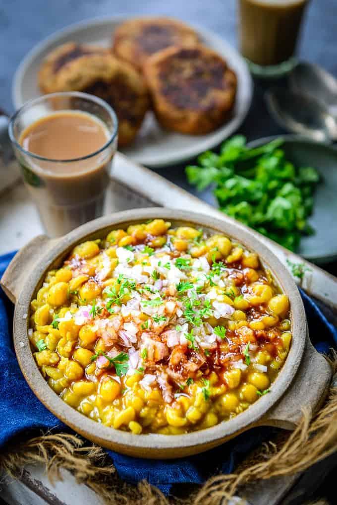 Ragda recipe served in a bowl.