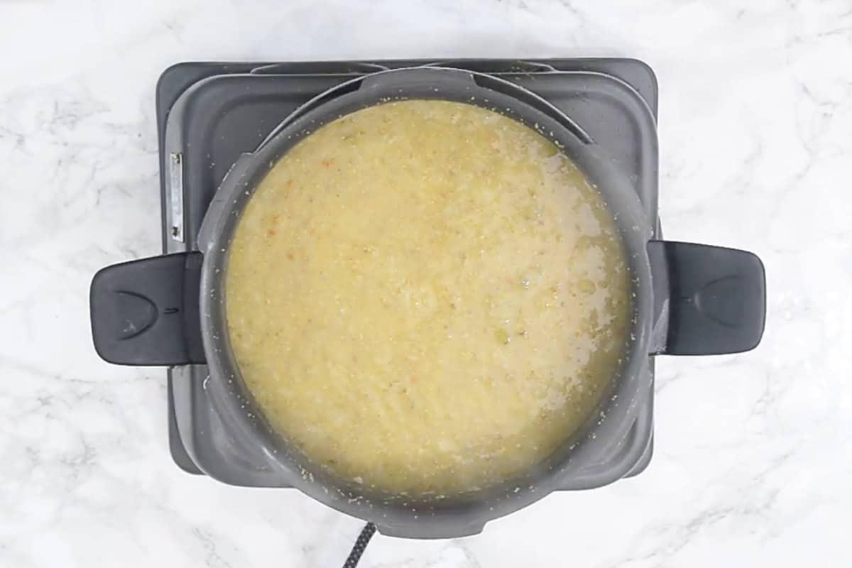 Pressure cooked bajre ki khichdi.