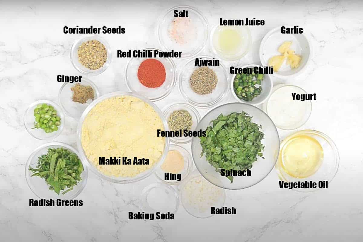 Makki ka Dhokla Ingredients.