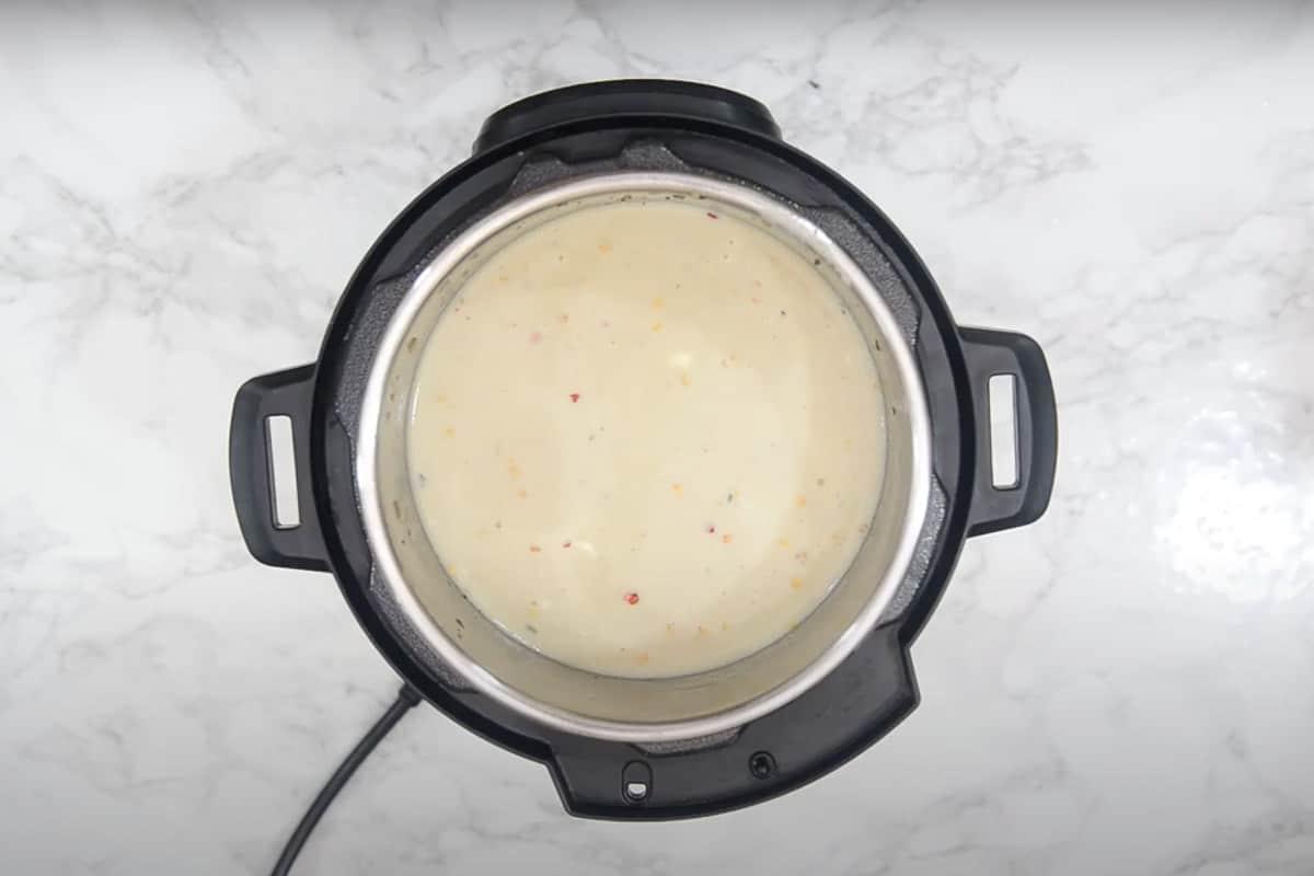 Ready Instant Pot Cauliflower Soup.