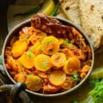 Mooli Ki Sabji is easy to make Indian curry made using fresh radish, tomato, and spices. It is a treat to eat with Indian bread or rice. Here is how to make it.