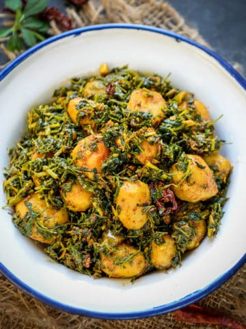 Aloo Methi is a simple yet delicious sabji which can be prepared for your everyday Lunch Box or a side dish with your regular meals.