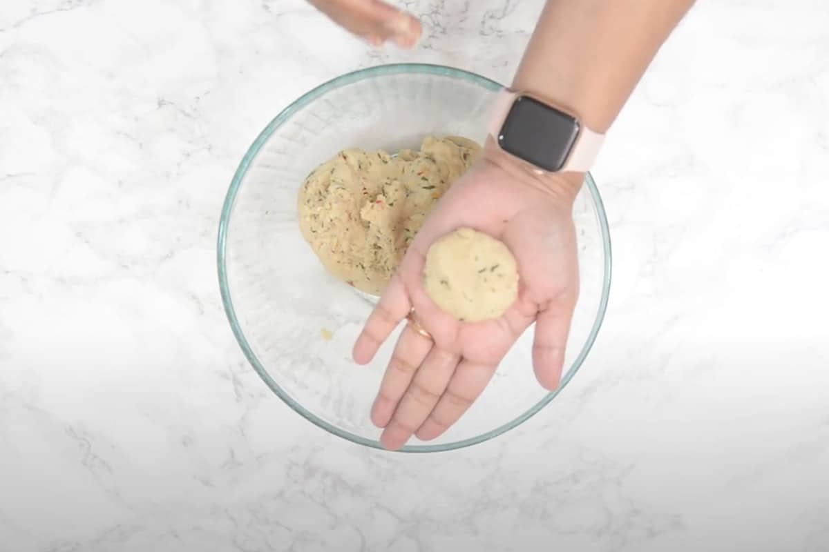 Small ball made from the dough.