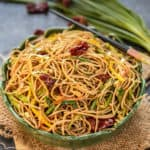 These Chilli Garlic noodles is a simple yet flavourful recipe where noodles are stir-fried along with dry red chilies, garlic, and lots of vegetables. Try it and it will surely satisfy your taste buds.