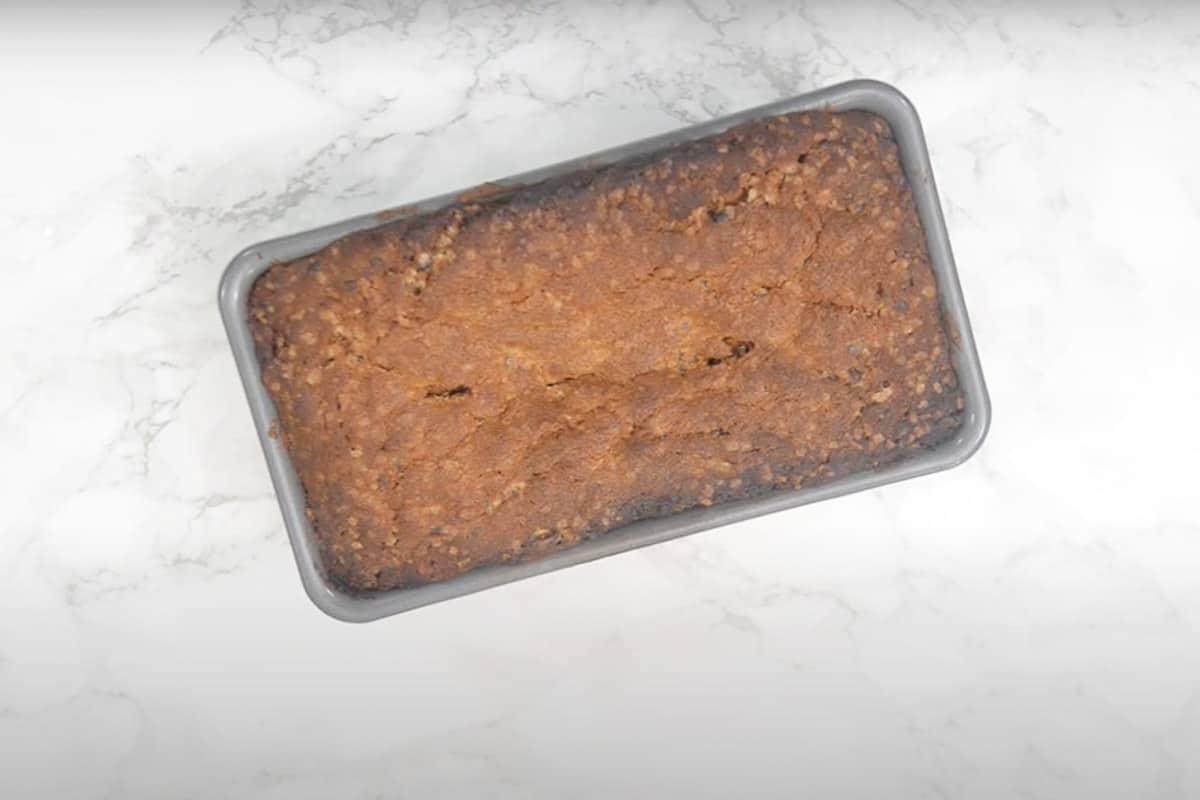 Ready chocolate chip pound cake.