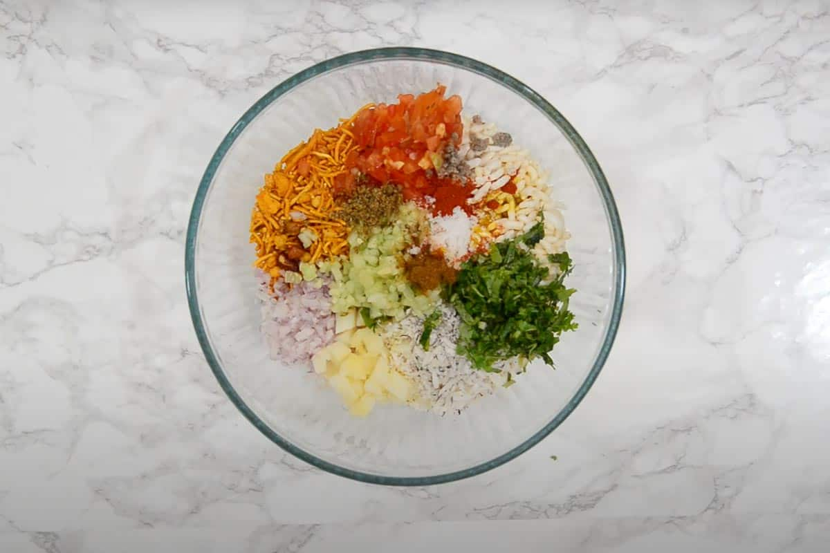 Remaining ingredients added in the bowl.