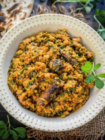 Methi Keema is a spicy curry made using mutton mince and fresh fenugreek leaves. It goes perfectly with Laccha Paratha or Naan. Here is how to make it.