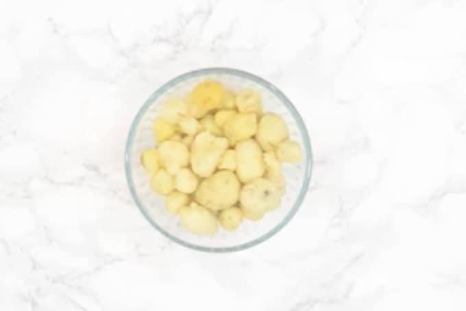 peeled potatoes.