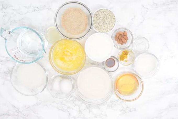 Basbousa ingredients
