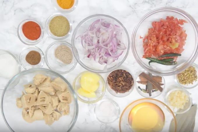 Soya chaap ingredients