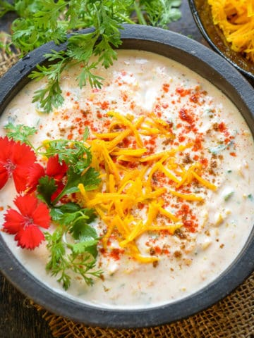 Kaddu ka Raita or Pumpkin Raita is easy to make accompaniment made using fresh pumpkin and yogurt and it goes very well with Indian meals. Here is how to make it.