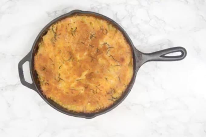 Ready potatoes au gratin.