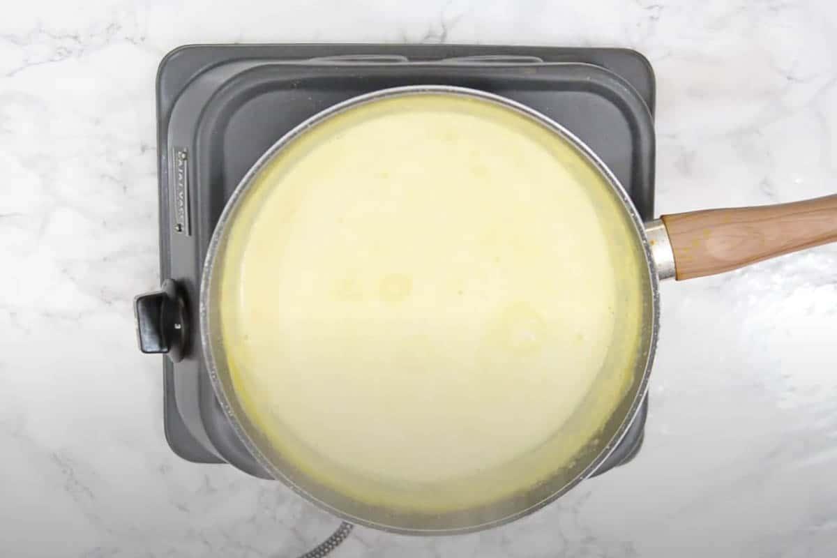 Milk reduced to make rabdi.
