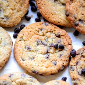 These Eggless Chocolate Chip Cookies are crispy-chewy cookies loaded with chocolate chips. Try this easy recipe to make perfect Bakery Style Choco-Chip Cookies from scratch at home.