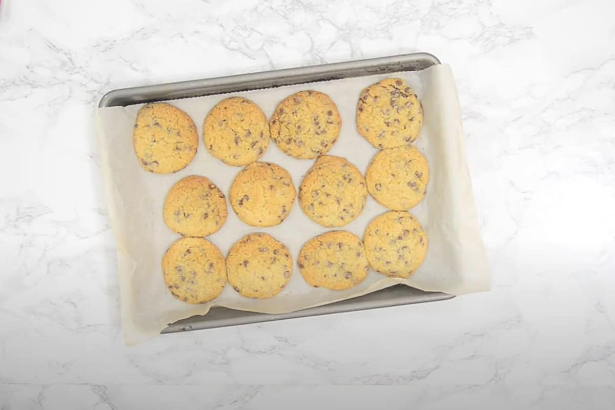 Ready chocolate chip cookies.