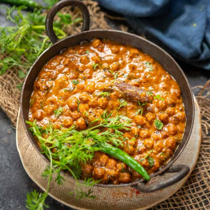 Kala Chana is Black Chana which is a very good source of vegetarian protein. It can be cooked in a variety of forms like chaat, curries, or ghugni. Here is how to make it.