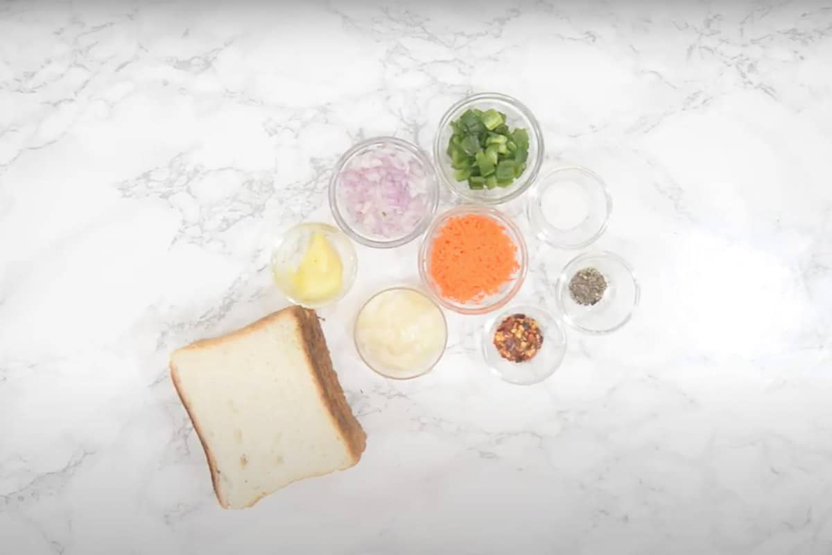 Mayonnaise sandwich Ingredients