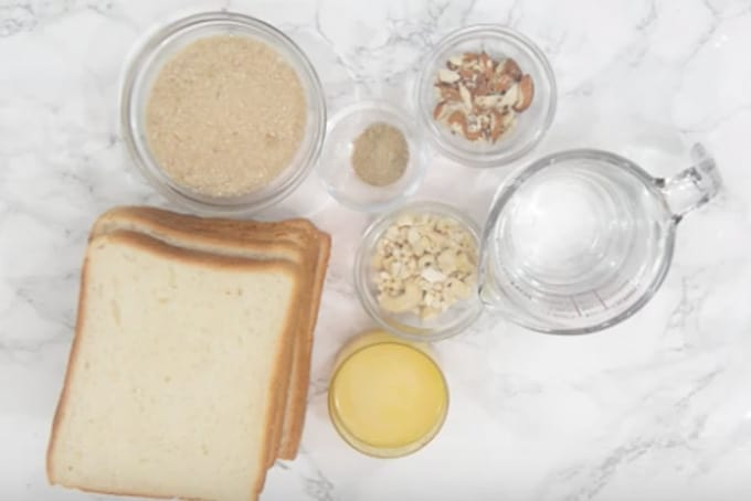 Bread halwa ingredients