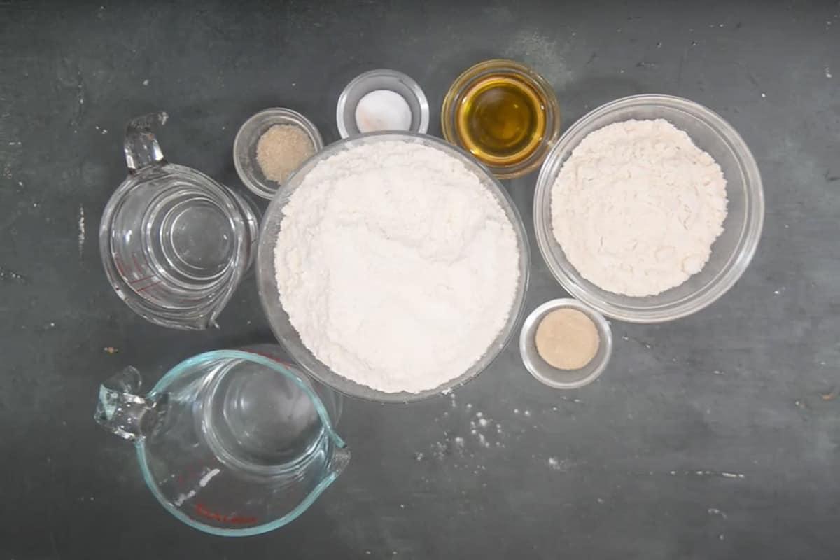 Pizza Dough Ingredients.