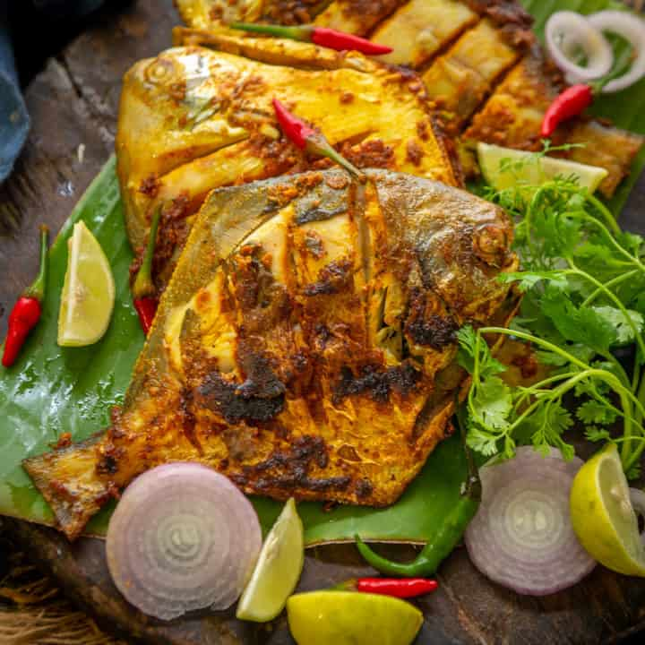 Full of flavor and super easy to make, this crispy Pomfret Fry is a perfect side dish for your everyday meals. Do give it a try.