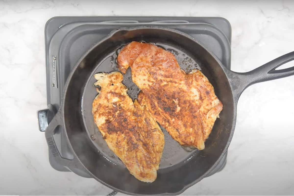 Cooked chicken.