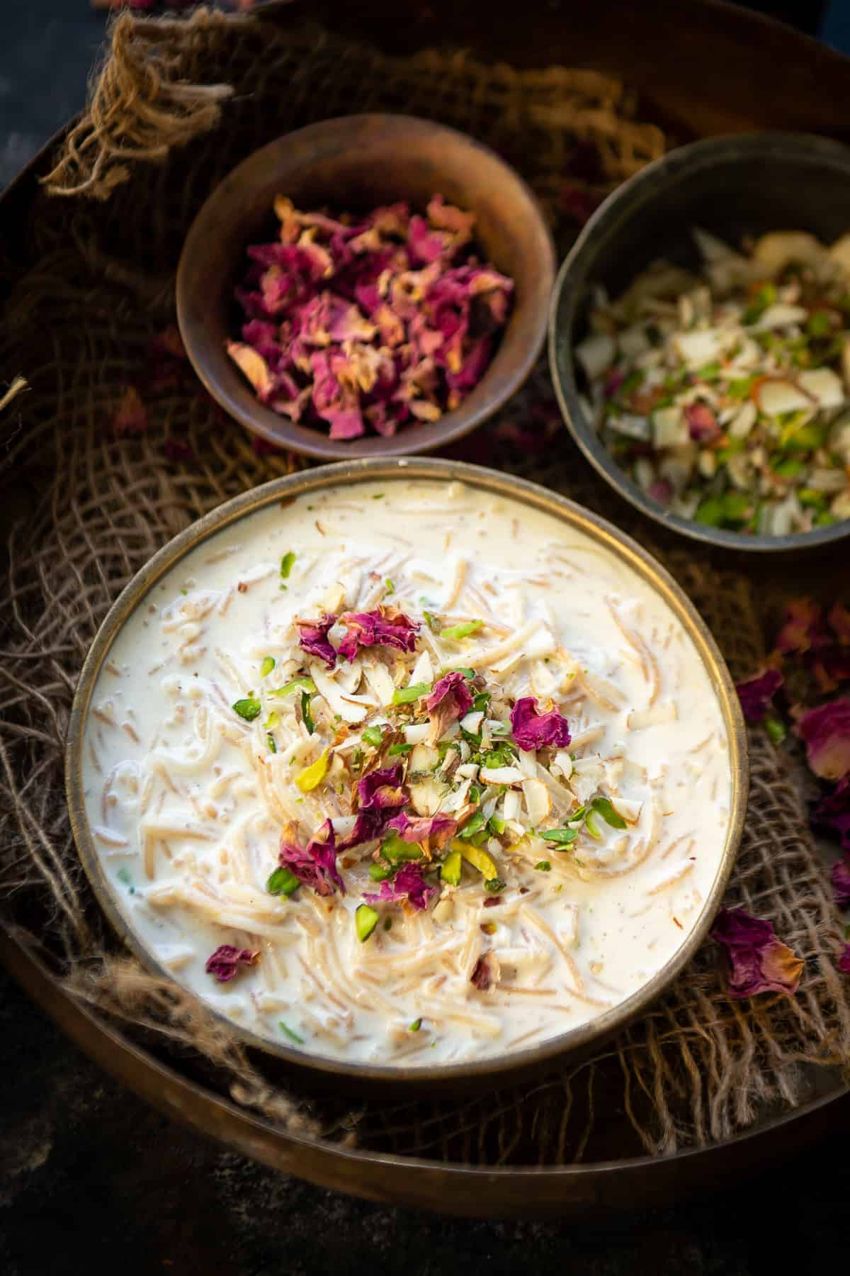 Seviyan Kheer served in a bowl.