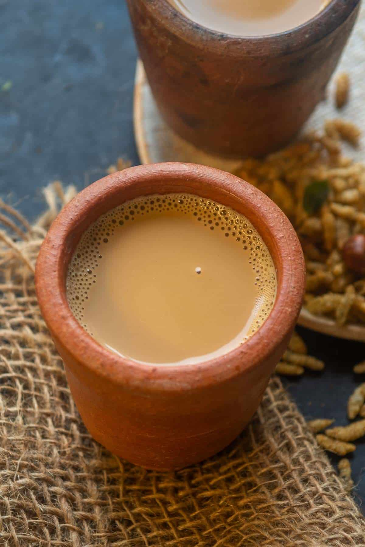 Tandoori Chai served in a mug.