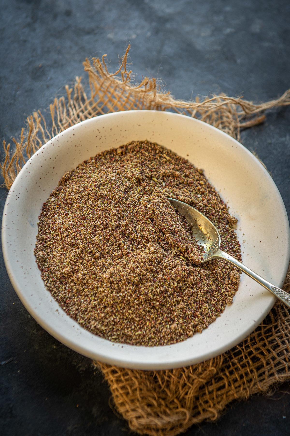 Za'atar served in a bowl. (Zaatar)