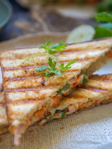 Veg Mayonnaise Sandwich is an easy to make breakfast option which can be made in a jiffy. Here is how to make it.