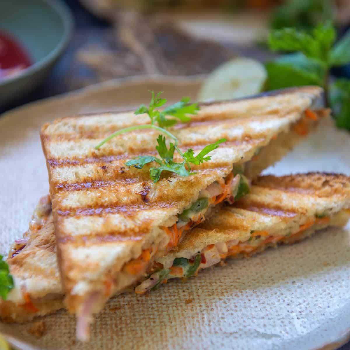 Mayonnaise Sandwich Recipe Step By Step Video Whiskaffair